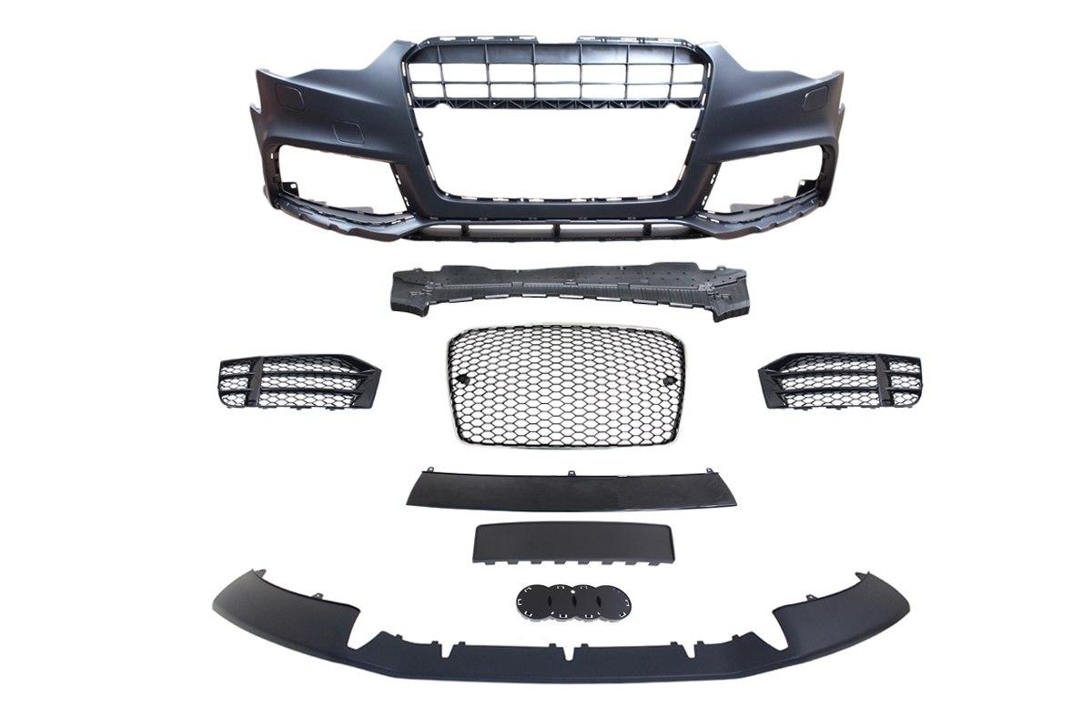 Zderzak przedni + Grill Chrom-Czarny Audi A5 8T 13-16 RS5 Style - GRUBYGARAGE - Sklep Tuningowy